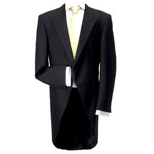 """100% Wool Traditional Black Morning Coat 50"""" Long - Made in the UK"""