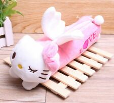 NEW Hello Kitty Plush Pencil Bag Zippered Cosmetic Angel Wings PINK GIFT