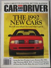 Car & Driver magazine October 1991 featuring Consulier, Lexus, Oldsmobile, Ford