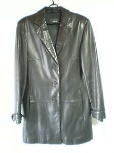 Jakes Damen Leder Mantel Jacke Gr. 40 schwarz Top günstig