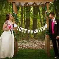 JUST MARRIED Hochzeit Banner Party Dekorationen Girlande Prop 20 Booth J9A6 X3K6