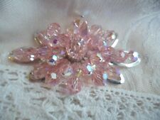 VINTAGE JEWELLERY SIMPSON JEWEL CREST JEWELCREST ANTIQUE JEWELRY PINK BROOCH