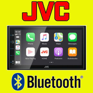"""JVC CarPlay Android Car Auto Stereo 6.8"""" Double Din Touch Screen USB KW-M560BT"""
