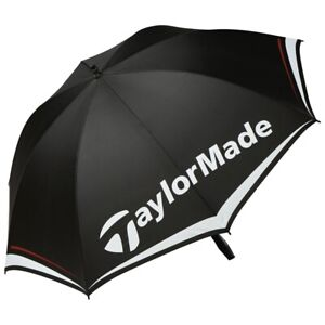 "Taylormade 60"" Single Canopy Golf Umbrella - Black/White - New 2021"