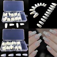 Full Cover 100pcs False Nail tips Ballerina Coffin Nails DIY + Box