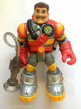 """1999 6"""" Fisher Price Rescue Heroes Sergeant Siren W/ Backpack! See Pics!"""