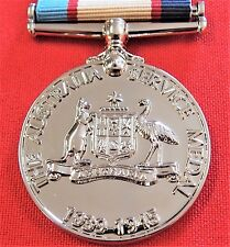 **WW2 THE 1939/45 AUSTRALIAN SERVICE MEDAL RIBBON REPLICA MEDAL MOUNTING ANZAC