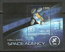 GREECE 2018 HELLENIC SPACE AGENCY (SATELLITE) SOUVENIR SHEET OF 1 STAMP IN MINT