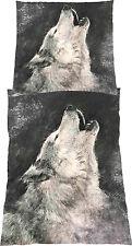 Bettwäsche-Garnitur Microfaser Grau Wolf Wölfe Indianer 80x80  bzw 135 x 200