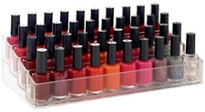 Clear Plastic Multi-Level Nail Polish Organizer Holds up to 40 Bottles