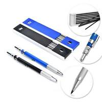 2mm 2B Lead Holder Automatic Mechanical Drafting Draughting Pencil & 12 Leads