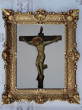 Gemälde Jesus Maria Ikonen Repro BAROCK Antik look 56x46 cm Religiöse Bilder 49