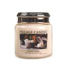 Village Candle Coconut Vanilla Medium Scented 16oz Jar 2 Wick Home Fragrance
