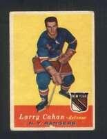 1957-58 Topps #59 Larry Cahan VGEX NY Rangers 108350