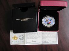 2014 Canada 25 Cents Coloured Coin Harlequin Duck, Signed By Designer/ Artist