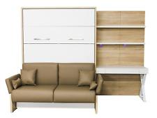 Schrankbett / Wandbett / Klappbett- Sofa WBS 1 Soft -140 x 200 cm Bardolino Weiß