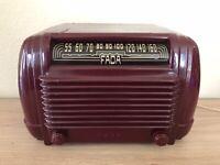 Vintage Rare 1950s Working FADA Radio Model 830 Celluloid Bakelite Mid Century