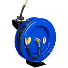 Pneumatic 50 feet 1/2 inch Retractable Air Compressor Hose Reel Storage Holder