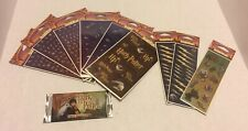 Lot Of 9 Harry Potter Stickers All Night Media New In Packaging & 1 Pack Of Card