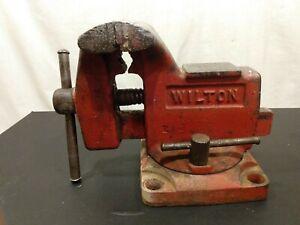 vintage Wilton bench mount swivel base vise model 121068  3 1/2'' jaws