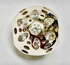 Authentic PANDORA Sparkling Bloom Charm Clear CZ & 14k Gold 750826CZ