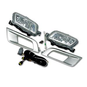 For Ford Ranger Top Model 2016 2017 18 Kit Fog Lamp Spot Light Trim Silver