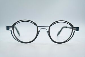 Glasses Frames THEO Belgium Tracing 380 Grey Blue Round 45/18 140 New