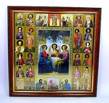 Ikone heilige Dreifaltigkeit geweiht икона святая Троица освящена 26x26x1,5 cm