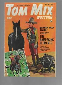 Tom Mix Western #48 Fawcett 1951 Golden Age Western Comic Books Fine