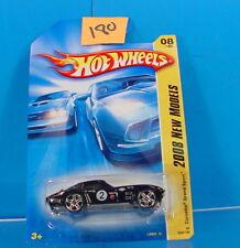 #180 HOT WHEELS 2008 NEW MODELS '63 CORVETTE GRAND SPORT#08 BLACK NEW