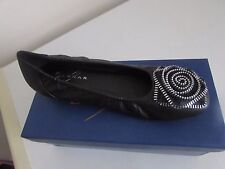 Lunar Ladies Shoes Black Ballet Pumps Flat Work Smart Casual 3 UK 36 EU RRP £29