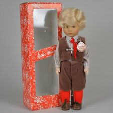 Charming 1980's Kathe Kruse Boy Doll in Short Suit w/ Original Box - 18.5 Inches