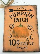 pumpkin Patch 10c lb Fall thanksgiving Autumn  country wood sign wreath decor