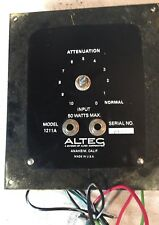 ALTEC 1211A PA Speaker Attenuation  Volume Control Panel Face Plate Crossover