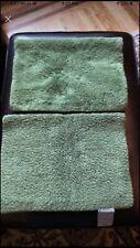 POTTERY BARN Classic Loop 2 Bath Rugs 17 x 24 Green EUC