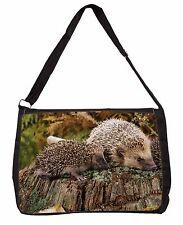 Mother and Baby Hedgehog Large Black Laptop Shoulder Bag School/College, AHE-5SB