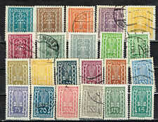 Austria Symbols of Labor and Industry 22 stamps set 1923 MH/U