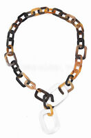 ONA Handmade LAGENLOOK Water Buffalo HORN Large Chain NECKLACE Q11811 RED //BLACK