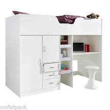 BOURNE LOFT STYLE HIGH SLEEPER CABIN BED WHITE R1610W