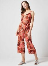 Dorothy Perkins Womens Red Tropical Print Wide Leg Jumpsuit Strappy Top