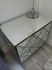 Mirrored Bedside dresser -