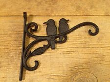 Cast Iron Two Birds sitting on a Branch Bird House Hanger Garden Decor 0184-0673