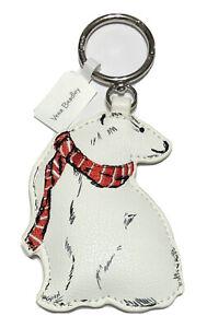Vera Bradley Polar Bear Bag Charm in Beary Merry NWT