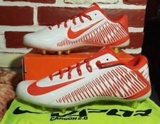 NIKE CARBON VAPOR ELITE TD FOOTBALL CLEATS SIZE 10.5 ORANGE WHITE 631425-180
