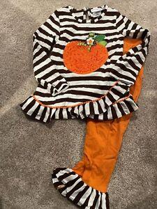 Emily Rose Girls Size 6 Pumpkin Set