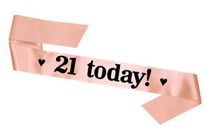 21 Today Birthday Sash: Rose Gold