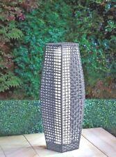 69 Cm Sorrento Grey Rattan Garden Traditional Floor Lamp