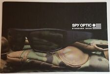 Spy Optic Standard Issue Brochure Leaflet NEW Military Defense