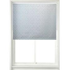 HOME DECOR - EASY TO FIT - Window Blinds Damask Roller Blind Mauve/Duck Egg Blue