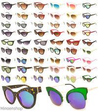 a9616ebe99a65 Womens Cat Eye Sunglasses Ladies Fashion Oversized VTG Frame Rockabilly  Eyewear